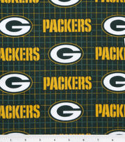 Green Bay Packers NFL Plaid Flannel Fabric by Fabric Traditions, , hi-res