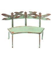 Fairy Garden Dragonfly Verdigris Bench, , hi-res