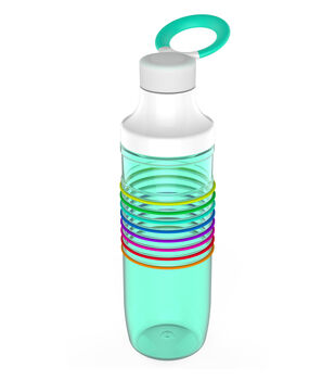HydraTrak Chug 24oz Water Intake Calculator Bottle-Seafoam
