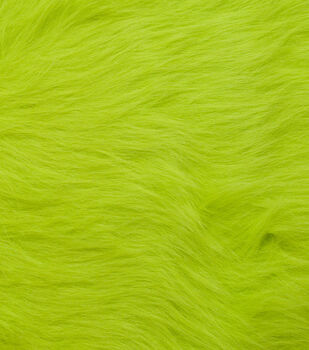 Fashion Faux Fur Fabric-Lime Green