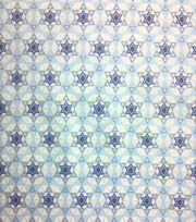Holiday Inspirations Fabric-Hanukkah Tiny Star Of David Metallic, , hi-res