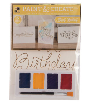 DCWV Paint & Create Cards & envelopes: Birthday & more
