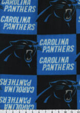 Carolina Panthers NFL Fleece Fabric by Fabric Traditions, , hi-res