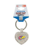 University of Kansas NCAA Heart Keychain, , hi-res