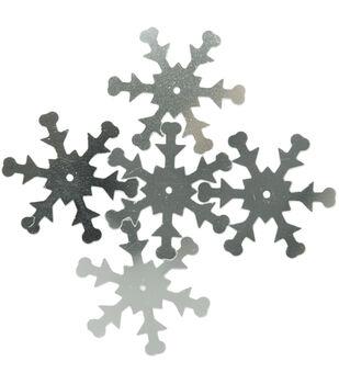 Sequin Snowflake Silver 30pc