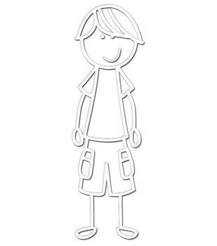 "Plaid Me&My Peeps Family Auto Decal 3""x4.25""-Teen Boy"