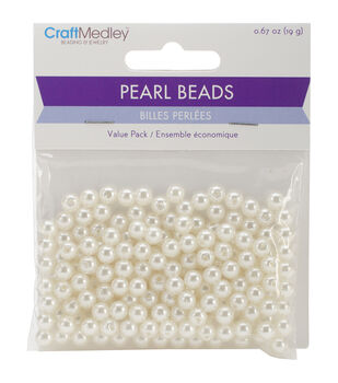 Craft Medley Pearl Beads Value Pack 6mm
