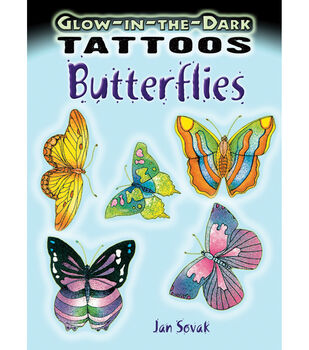 Dover Publications-Glow-In-The-Dark Butterflies Tattoo