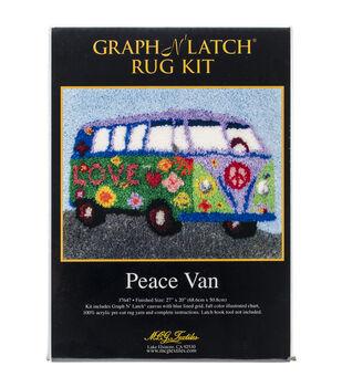 "Latch Hook Kit 27""X20""-Peace Van"