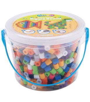 Perler Biggie Bead Bucket 1200/Pkg-8 Colors