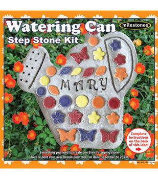 Milestones 8'' Mosaic Stepping Stone Kit-Watering Can