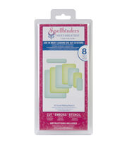 Spellbinders Nestabilities A2 Card Creator Dies-Curved Matting Basics A, , hi-res