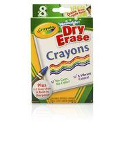 Crayola Dry-Erase Washable Crayons-8PK, , hi-res