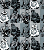 Star Wars VII Villains In Squares Flannel Fabric, , hi-res