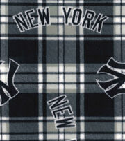 New York Yankees MLB Plaid Fleece Fabric, , hi-res