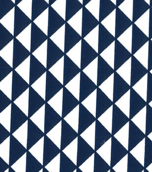 Quilter's Showcase™ Cotton Fabric-Triangles Blue/White