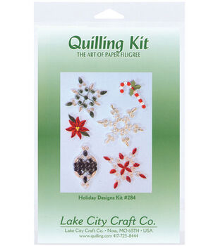 Lake City Crafts Quilling Kit-Holiday