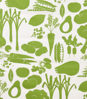 Alexander Henry Cotton Fabric-Farmers Market Green, , hi-res