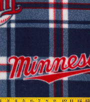 Minnesota Twins MLB Plaid Fleece Fabric, , hi-res
