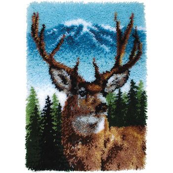 Deer -latch Hook Caron Cla