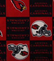 Arizona Cardinals NFL Fleece Fabric by Fabric Traditions, , hi-res