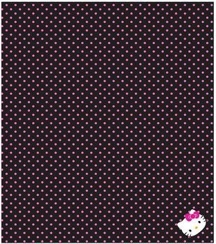 Sanrio Hello Kitty Polka Dot Finished Throw