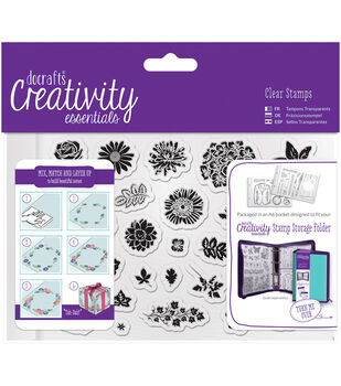Docrafts Creativity Essentials A6 Clear Stamp Set-Trad Floral
