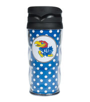 University of Kansas NCAA Polka Dot Travel Mug, , hi-res