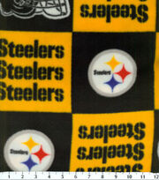 Pittsburgh Steelers NFL Block Fleece Fabric by Fabric Traditions, , hi-res