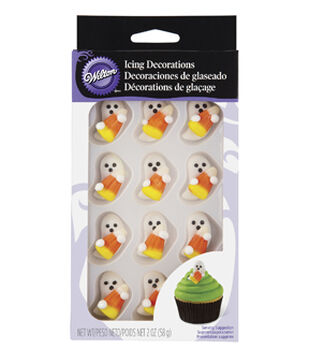 Royal Icing Decorations 12/Pkg-Candy Corn