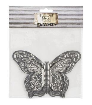 Salvaged Tin Butterfly Metal Sheet
