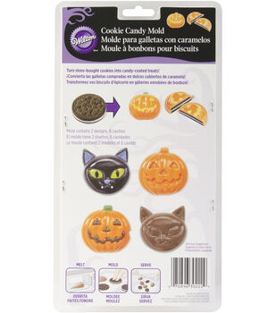 Wilton® Candy Mold-6 Cavity Cat/Pumpkin