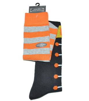 Maker's Halloween Over the Knee Socks-Witch Stripe Boot