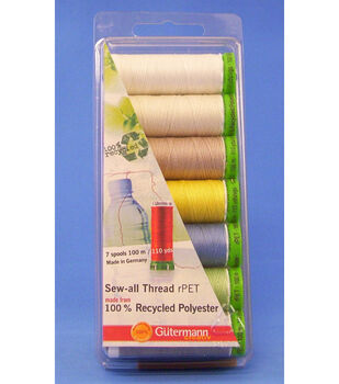 Gutermann Recycled Polyster Thread-7pack