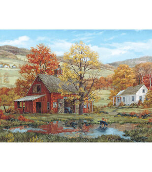 White Mountain 1000 piece Jigsaw Puzzle Fred Swan-Friends In Autumn
