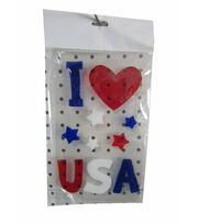 Sea To Shining Sea Gel Cling-I Love USA, , hi-res