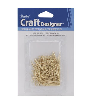 Sequin Pins 3/4in Gold 12pk