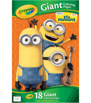 "Crayola Giant Coloring Pages 12.75""X19.5"" 18/Pkg-Minions, , hi-res"