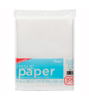 100 Count White Tissue Paper Value Pack