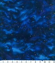 Premium Cotton Fabric-Stars Navy, , hi-res