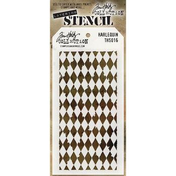 Tim Holtz Layered Stencil Harlequin