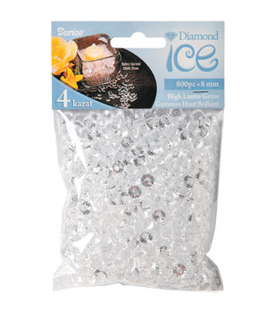 Darice® 800pk 8mm/4 Carat Diamond Ice Gems-Clear