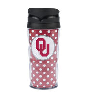 University of Oklahoma NCAA Polka Dot Travel Mug, , hi-res
