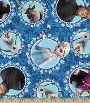 Disney Frozen Character Fleece Fabric, , hi-res