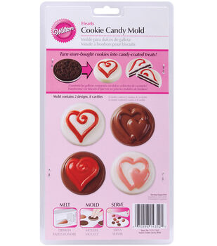 Wilton® Cookie & Candy Mold-Hearts