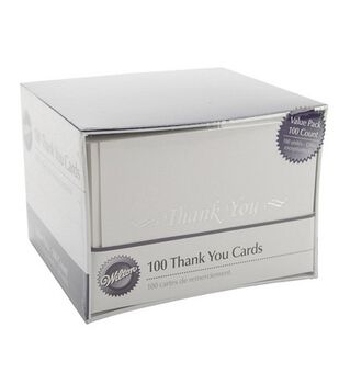 Wilton® 100ct Thank You Cards and Envelopes-White