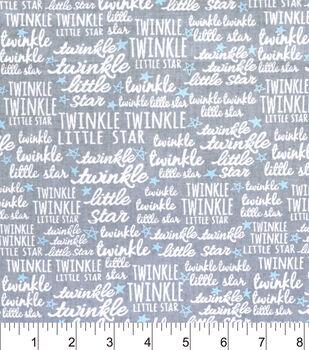 Nursery Cotton Fabric-Twinkle Twinkle Blue Star
