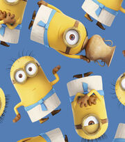 Minions Egyptian Blue Fleece Fabric, , hi-res