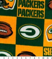 Green Bay Packers NFL Block Fleece Fabric by Fabric Traditions, , hi-res