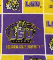 Louisiana State University NCAA  Fleece Fabric, , hi-res